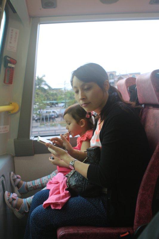 Dans le bus vers l'aeroport